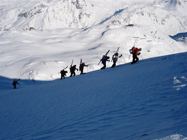 Climbing the Maroikopf in St. Anton early January 2006
