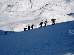 Climbing the Maroikopf in St. Anton early January 2006 photo