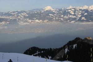 View of Lake Geneva from Thollon, Thollon les Mémises photo