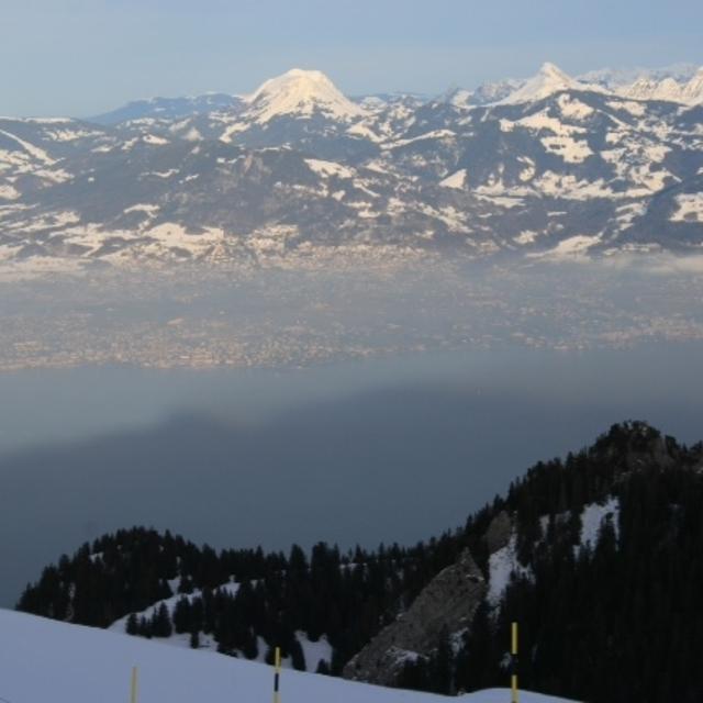 View of Lake Geneva from Thollon, Thollon les Mémises