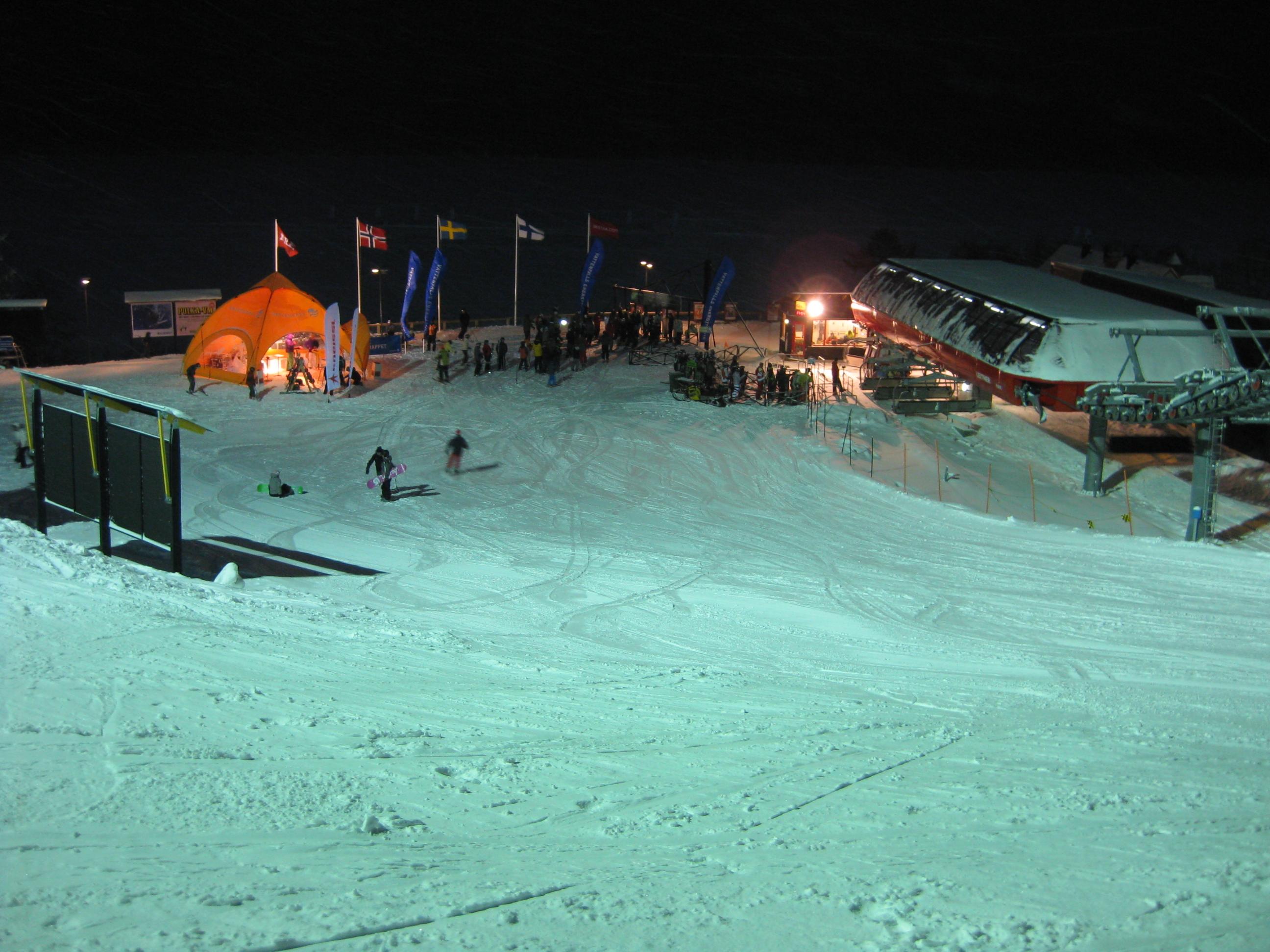 Evening skiing, Åre