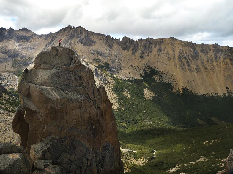 Aguja Frey, Zona refugio Frey., Cerro Catedral