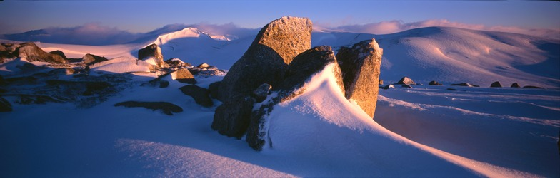 Dawn on the Kosciusko Main Range, Snowy Mountains, Australia, Thredbo