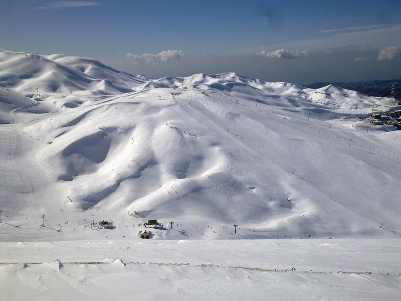 view from Jabal Dib, Mzaar Ski Resort