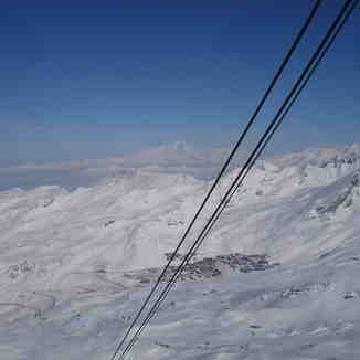 Mt Blanc - over 40miles away., Val Thorens