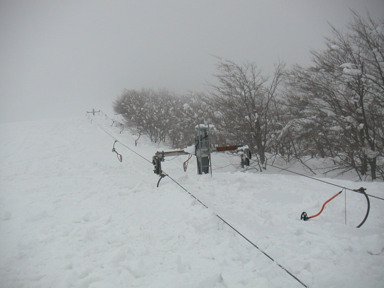 Snow effects of the Aegean Sea (mt Pelion - Greece)