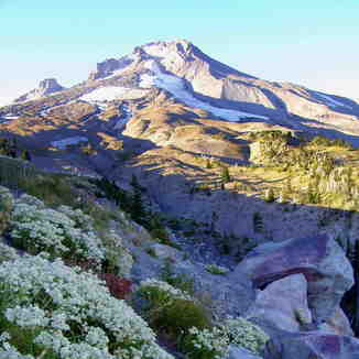 Mount Hood snow fields in September, Timberline