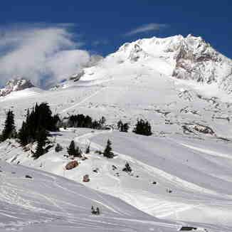 beautiful Mount Hood skiing day, Timberline