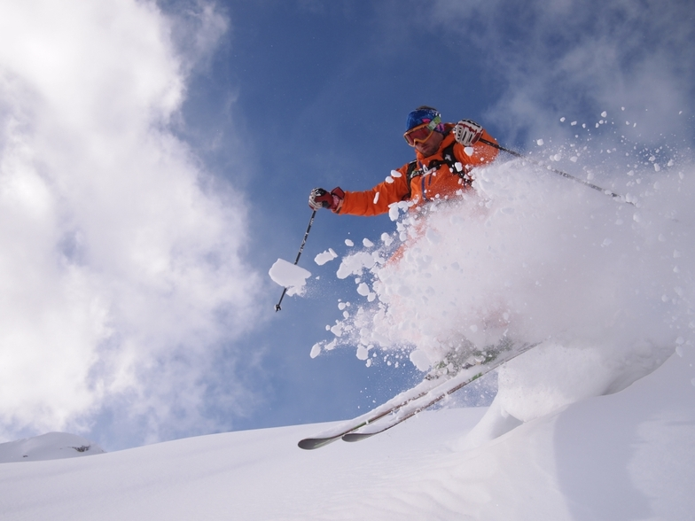 Early season fun in the powder and sun!, Bruson