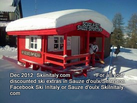 Sauze d'Oulx (Via Lattea) Ski Resort by: SkiInItaly.com      Facebook Ski InItaly