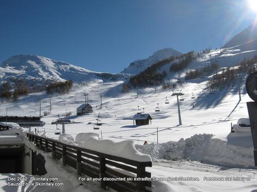 Sestrière (Via Lattea) Ski Resort by: SkiInItaly.com      Facebook Ski InItaly
