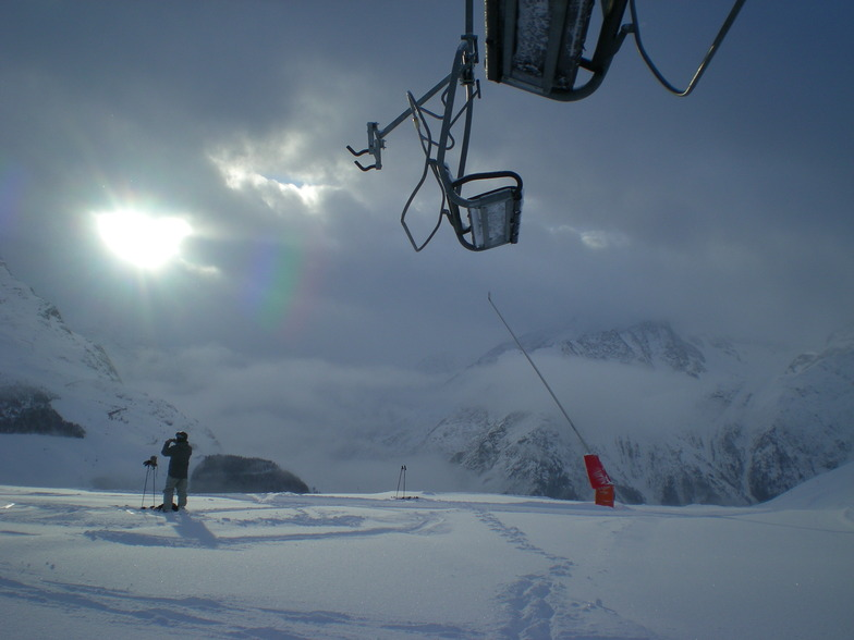 and the sun came out, Les Deux Alpes