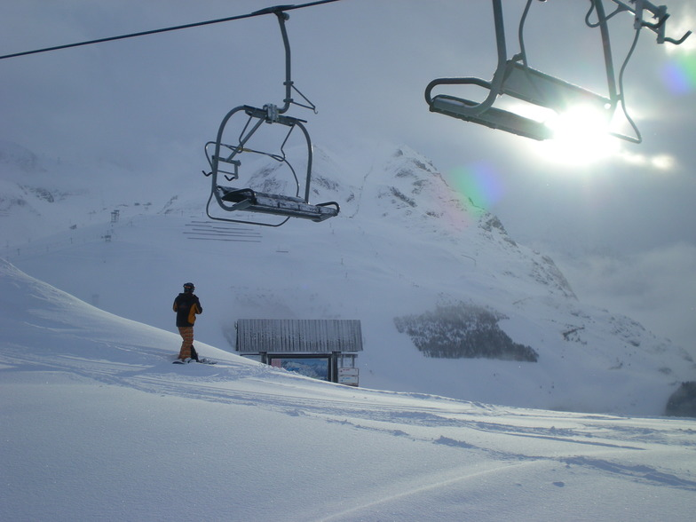 Finally a break in the weather, Les Deux Alpes