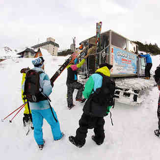 Packing into Snow Cab, Brezovica