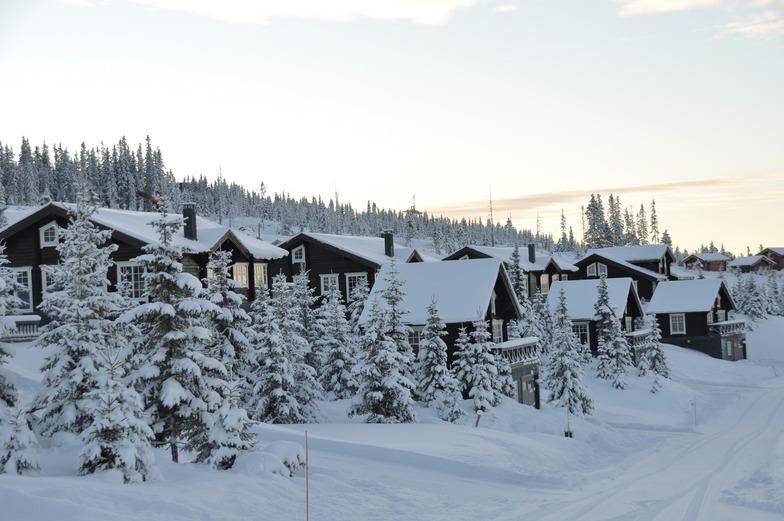 Chalets in Hafjell ski resort