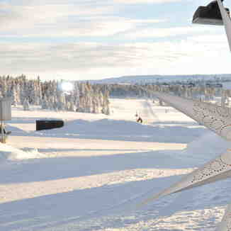 Nordic ski tracks of Hafjell