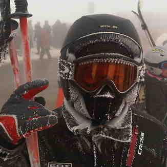 Freezing at -14, Mount Parnassos