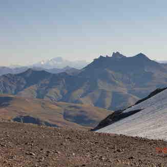 Belle vue sur le Mont Blanc depuis le glacier des 2Alpes, Les Deux Alpes