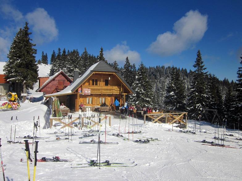 Alpine hut on Golte