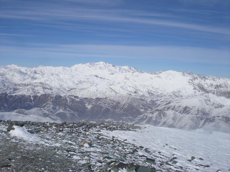 نماي علم كوه از قله كهار, Tochal