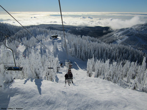 Sky Chair with Lions Express and Raven Ridge Chairs in the background, Cypress Mountain photo