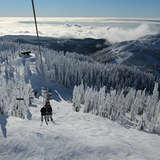 Sky Chair with Lions Express and Raven Ridge Chairs in the background, Cypress Mountain