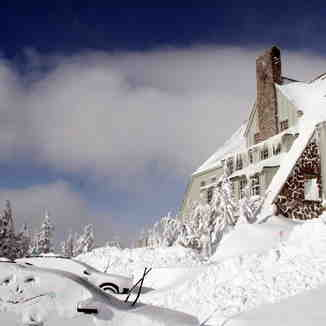 After the big Storm-Timberline Lodge