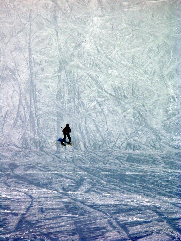 skiing down Mt. Hood Meadows, Mt Hood Meadows