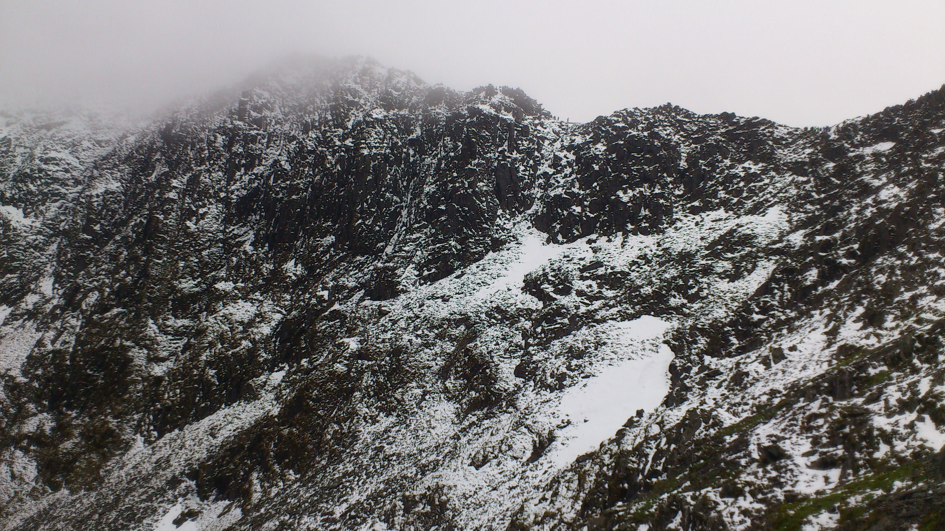 Snowdon pyg track April 2012