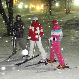 Night skiing at Appi, Appi Kogen