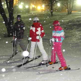 Night skiing at Appi, Appi Kogen