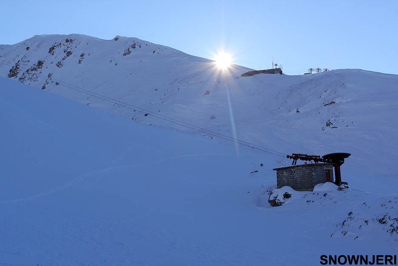 Blue sunset on Dec 30th 2012, Brezovica