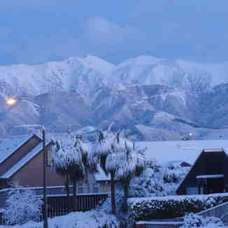 Early morning Methven towards  Mt Hutt, Mount Hutt