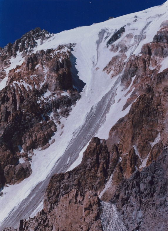 Mt.Damavand - East face - Yakhar glacier, Mount Damavand