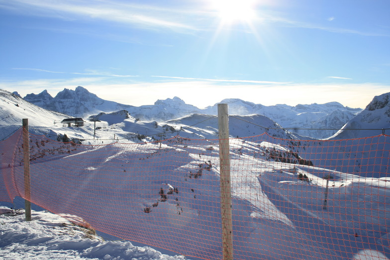 Top of Echo Alpin to Dents du Midi and Les Combes, Chatel