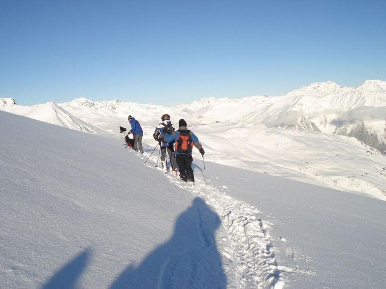preparing to ski Stutzalp to the Wolfgang pass, Davos