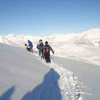 preparing to ski Stutzalp to the Wolfgang pass, Davos