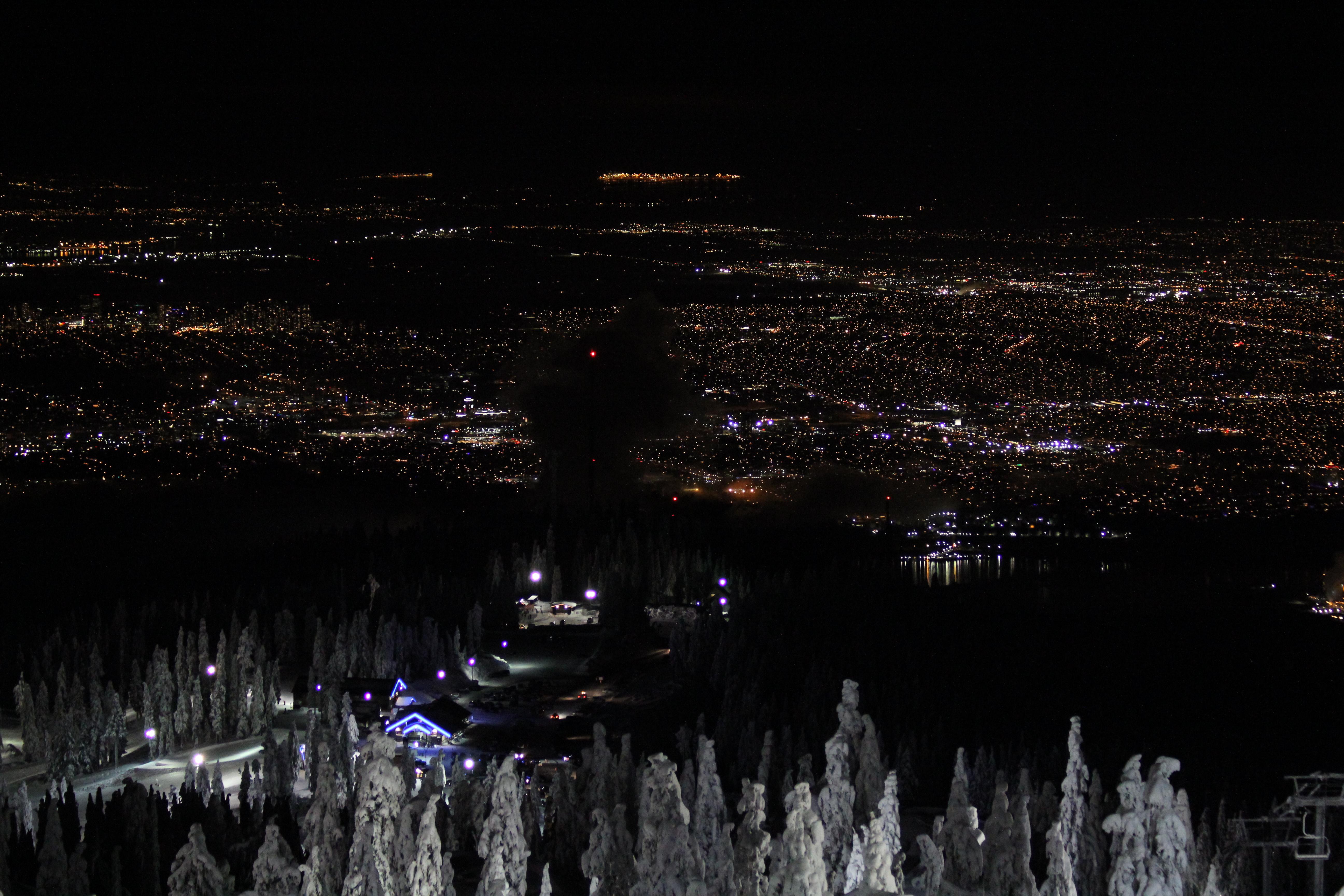 Vancouver city lights, Mt Seymour