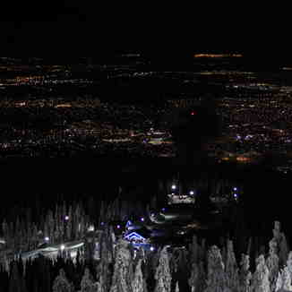 Vancouver city lights, Mount Seymour