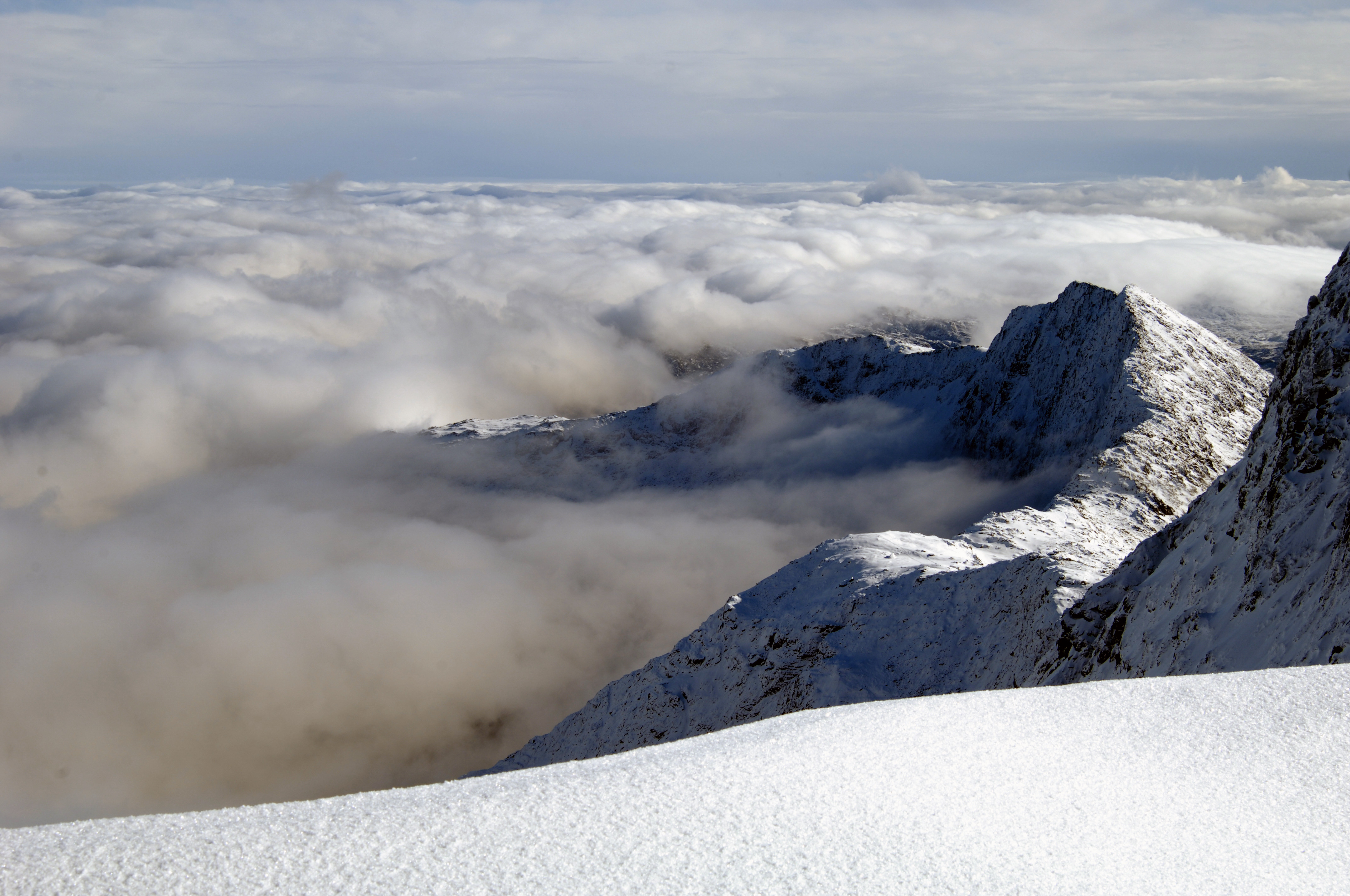 Snowdon in the clouds