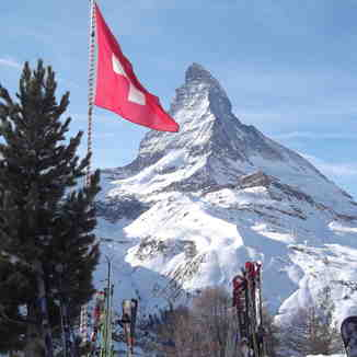 Matterhorn and Flag, Zermatt
