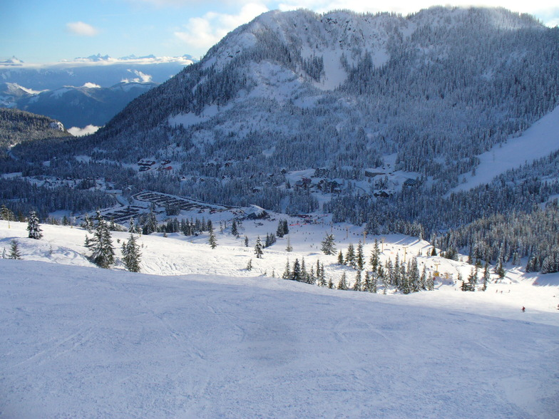 Hemlock Valley January 13, 2013 from the top of the Sasquatch Chair, Sasquatch Mountain Resort