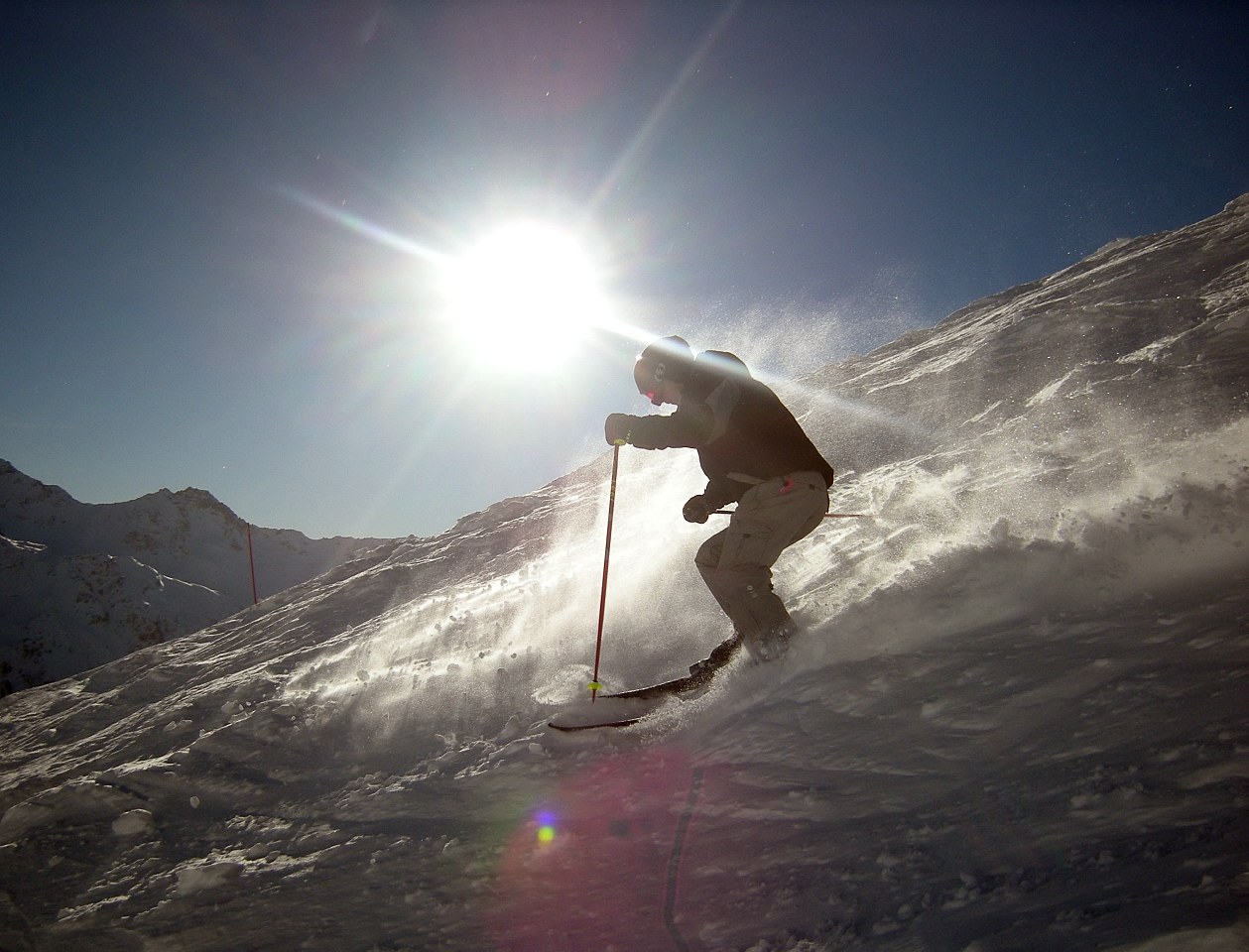 Excellent snow and sunshine in early January, Saint Gervais