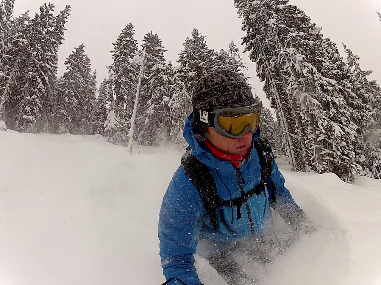 Jem in the St Gervais trees in superb snow, Saint Gervais