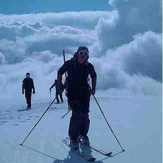 Ski touring to Tochal peak