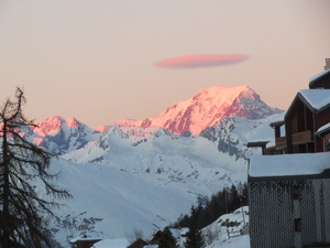 Mont Blanc at sunset, Peisey/Vallandry photo