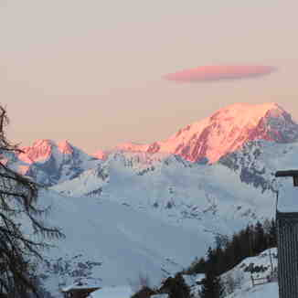 Mont Blanc at sunset, Peisey/Vallandry