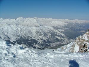 View from Courchevel 1850 (top) of Meribel photo