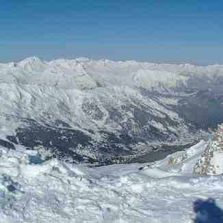 View from Courchevel 1850 (top) of Meribel