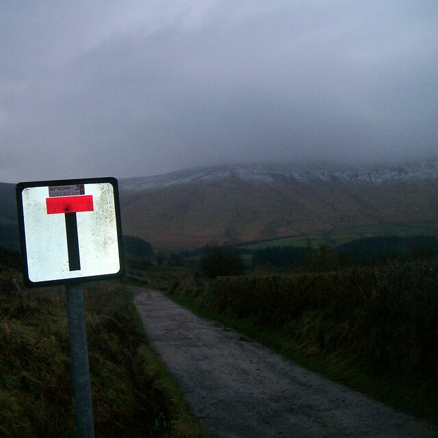 Road to Base of Seefin run., Seefin (Monavullagh)